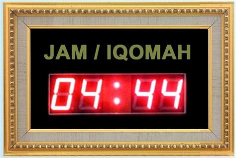 Jadwal Sholat Masjid Digital Timmer Iqomah jual timer jeda iqomah 43 215 29 cm harga murah jdm id jam digital masjid jadwal sholat