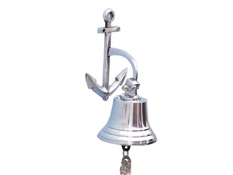 Welcome Sign Decorative Door Bel wholesale chrome hanging anchor bell 8 quot model ship