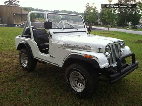 1981 jeep renegade 1981 jeep cj5 renegade 4 2 v6 3 speed