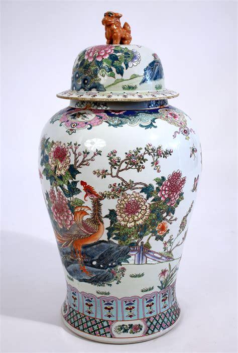 antique chinese lidded floor vase  sale  stdibs