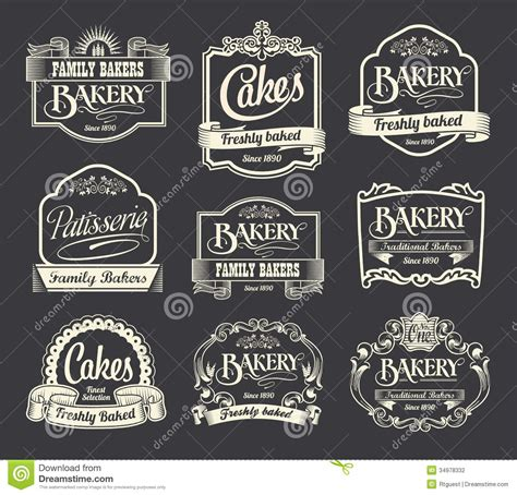 design art signs calligraphic sign and label design set stock vector