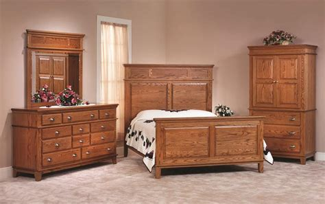amish bedroom set shaker style oak bedroom set from dutchcrafters