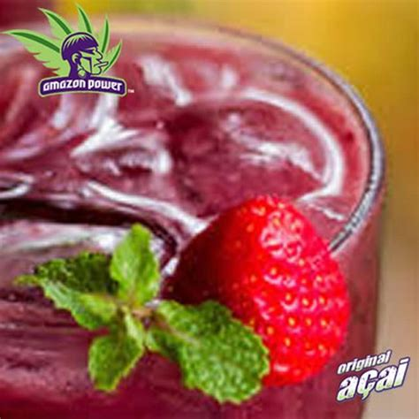 Strawberry Powder 250gr acai with orange and banana juice smoothie power