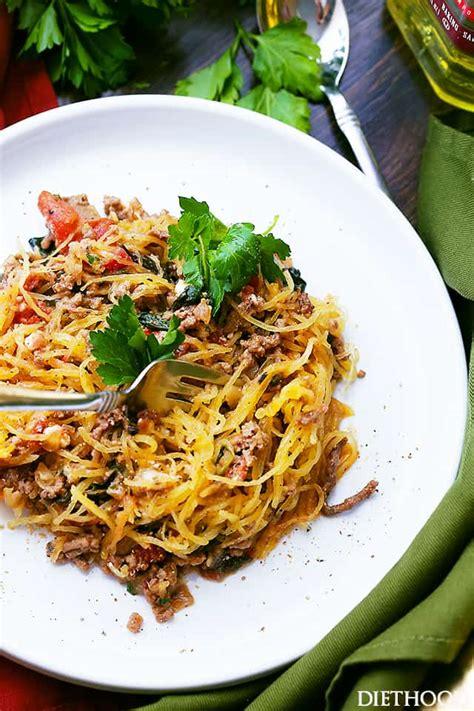 squash boat recipe mediterranean spaghetti squash boats recipe diethood