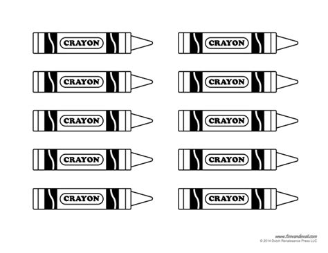 crayon labels template crayon template