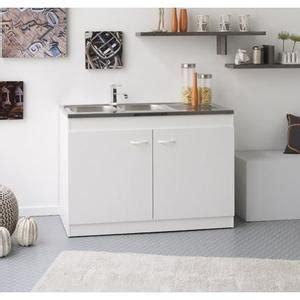 Charmant Meuble Pour Plan De Travail #4: meuble-sous-evier-cosmos-blanc-l100-cm.jpg
