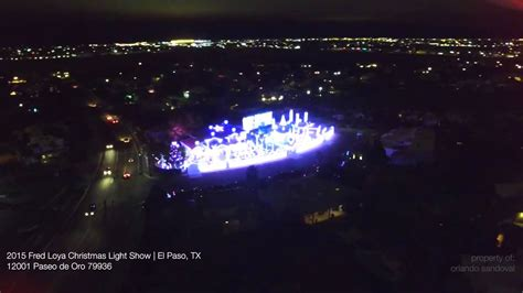 2015 fred loya christmas light show in el paso tx youtube