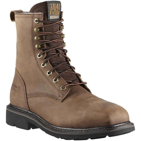ariat s cascade 8 quot steel toe lace up work boots boot