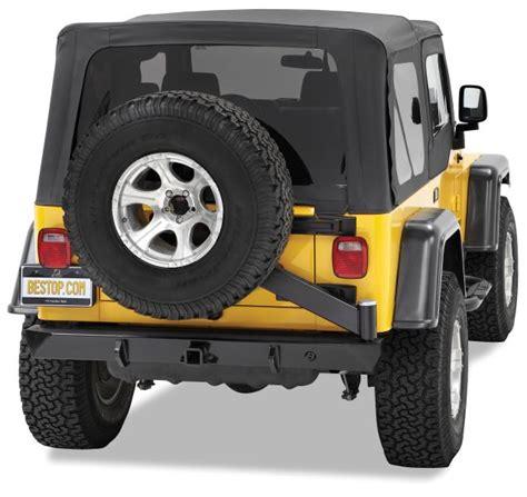 Jeep Rear Tire Carrier Bestop 42931 01 Highrock 4x4 Rear Bumper With Tire