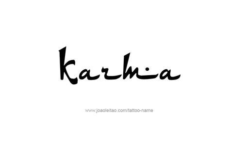karma tattoo ideas karma name designs inspiration