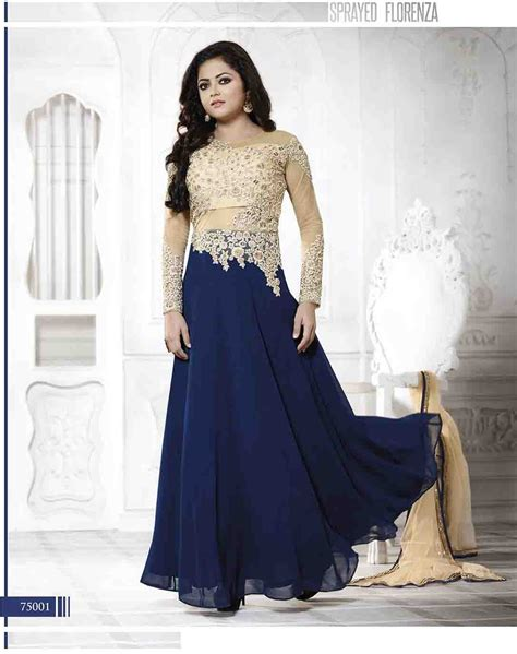 net pattern salwar suit madhubala as drashti dhami designer navy and cream