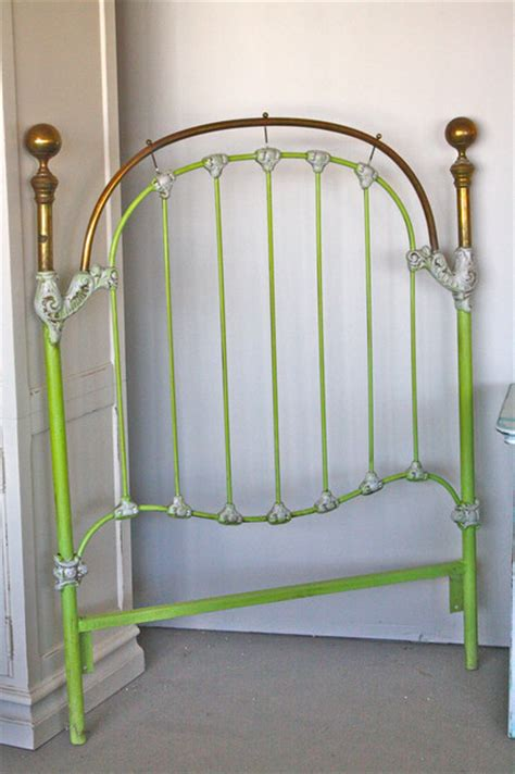 lime green headboard whimsical brass twin headboard in bright lime by casual