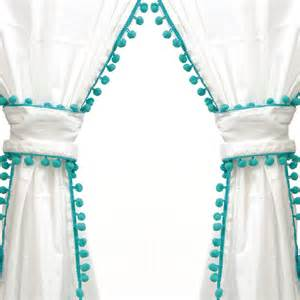 Turquoise And White Curtains Curtain Panel In Turquoise Everything Turquoise