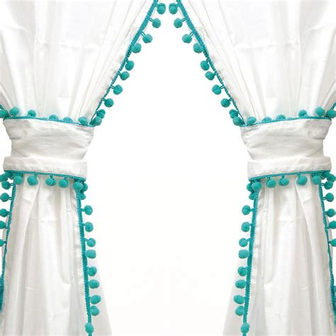 turquoise and white curtains paulina curtain panel in turquoise everything turquoise