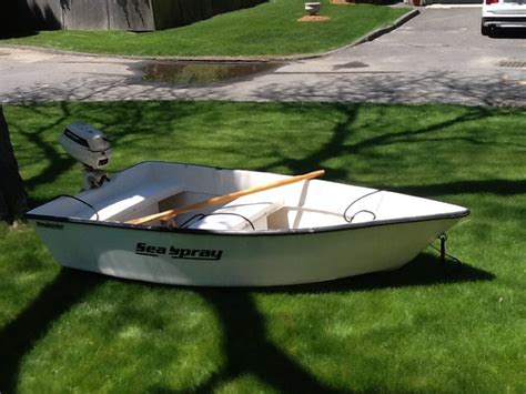 used boat motors massachusetts 8 quot skiff with 4 hp motor and oars 825 00