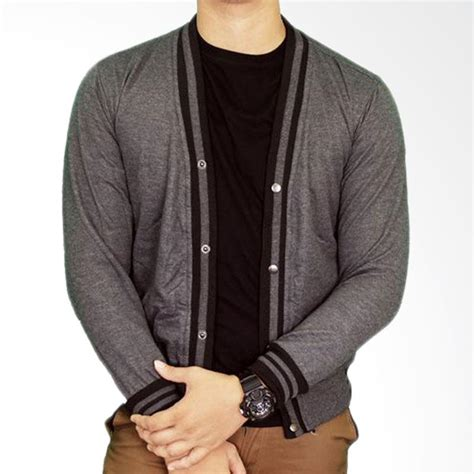 Gudang Fashion Sweater Fashion Abu jual gudang fashion car 613 cardigan fleece abu tua basic