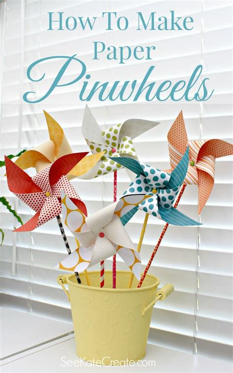 How To Make Paper Windmill Fans - 25 best ideas about paper pinwheels on