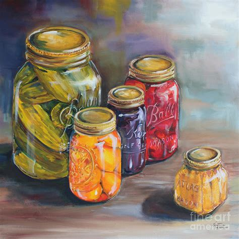 canning jars painting by kristine kainer