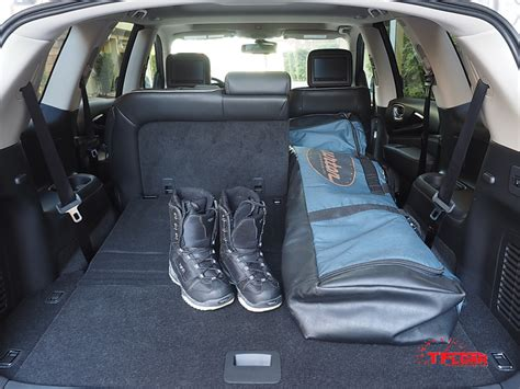 infiniti qx60 trunk space the qx60 has 15 8 cubic feet behind the third row but