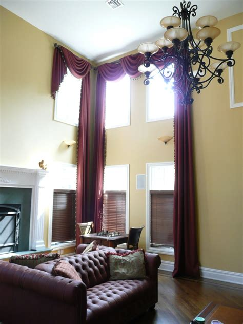 Curtains High Ceiling 94 Best Images About Swags On Pinterest Traditional Drapery Designs And Traditional Curtains