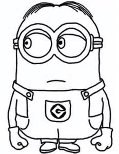 4 cute minions coloring pages
