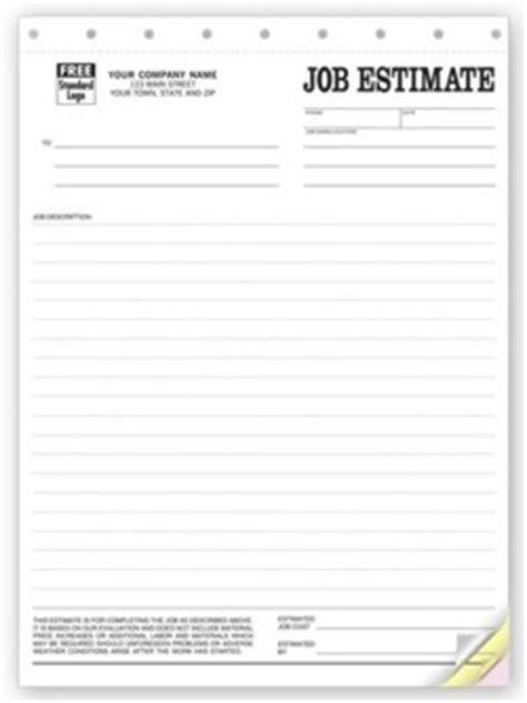 Plumbing Estimate Template by Witko Plumbing Estimate Forms Personalized Printing