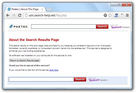 Search Opt Out How To Remove The Uslc Search Help Net Redirection Virus Search Help Hijacker Botcrawl