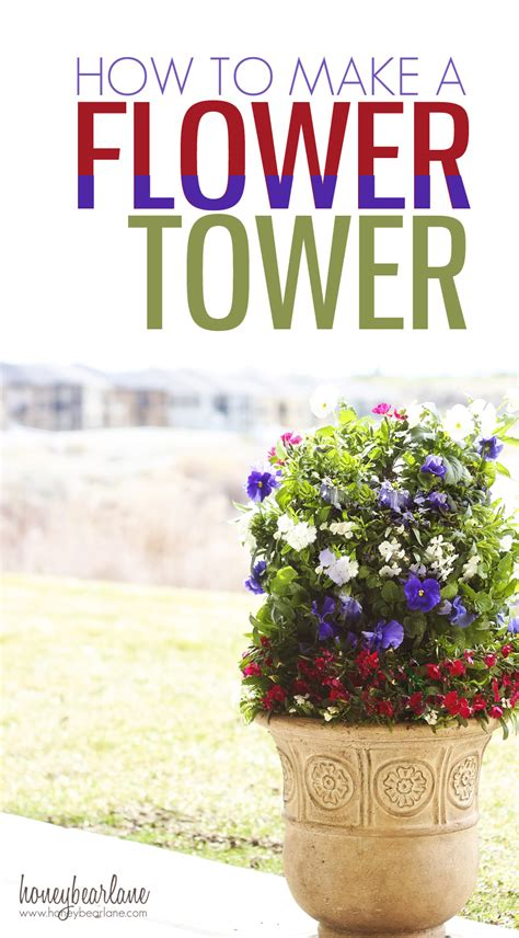 how to make a flower tower honeybear lane how to draw build tower