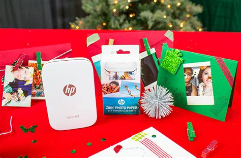 hp printable christmas cards diy holiday photo cards with hp sprocket myprintly