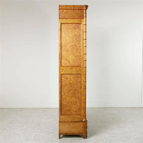 birdseye maple armoire antique french birds eye maple and faux bamboo armoire at