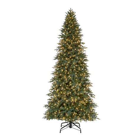 10 foot slim christmas tree home accents 10 ft pre lit led meadow set artificial tree with warm