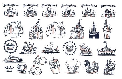 disneyland tattoos 1956 disneyland tattoos fantasyland via vintage