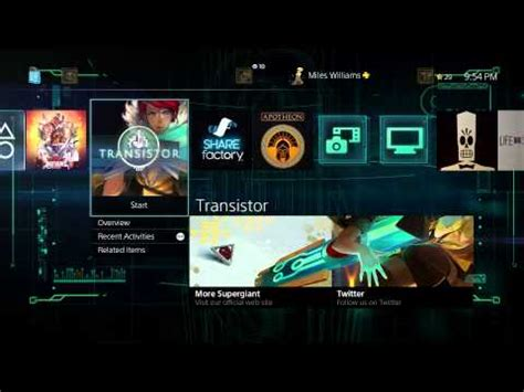 ps4 themes batman transistor dynamic theme ps4 youtube