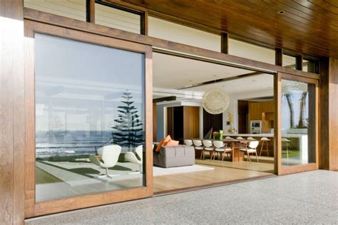 Luxurious Queensland Beach Residence Offers Dramatic Ocean How Big Are Sliding Glass Doors