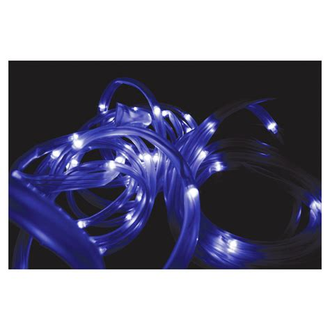 solar led rope light solar powered 50 white led rope light waterproof 7m ebay