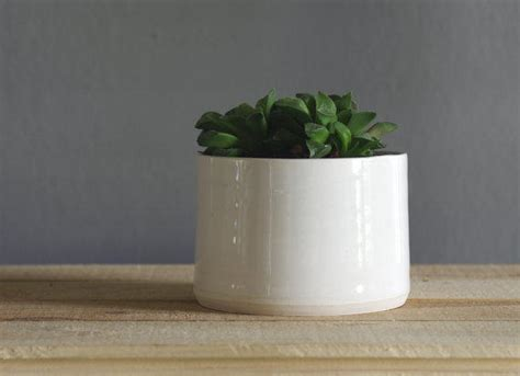 White Modern Planter by Porcelain Planter White Modern Pottery From Vitrifiedstudio