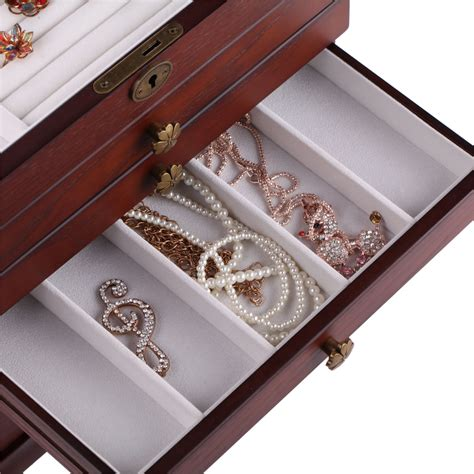 watch armoire wooden jewelry box case armoire cabinet ring watch storage chest love s gift 16 ebay