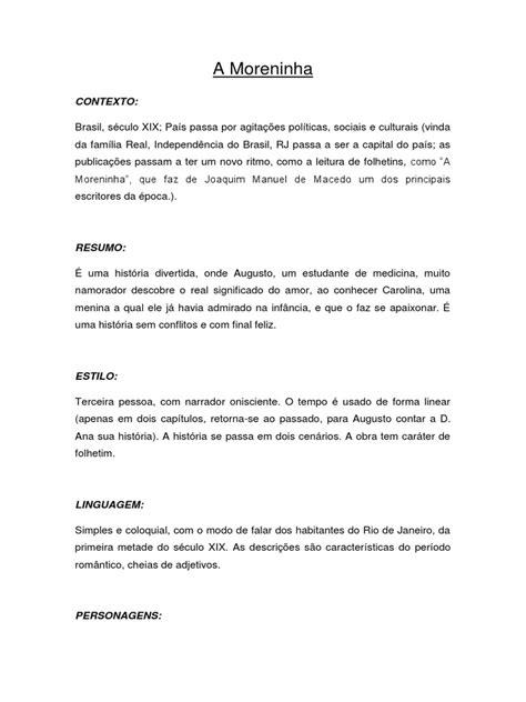 A Moreninha - análise | Ficção e literatura | Avaliação