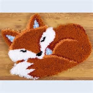 Rug Hooking Kit Nafra Kousen Handwerken Breigarens Sleeping Fox