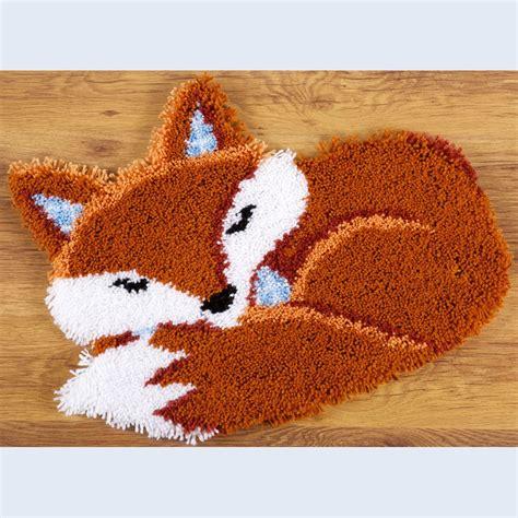 Latch Hook Rug by Nafra Kousen Handwerken Breigarens Sleeping Fox