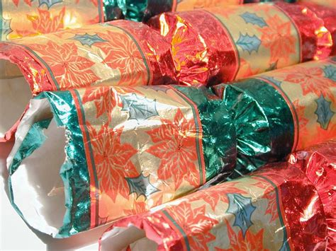 christmas cracker decorations images free image of colorful foil crackers
