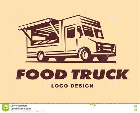 design food truck logo logos of food truck stock vector image of cream retro
