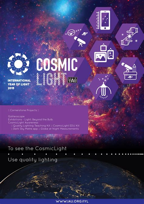 Cosmic Light Poster Iau