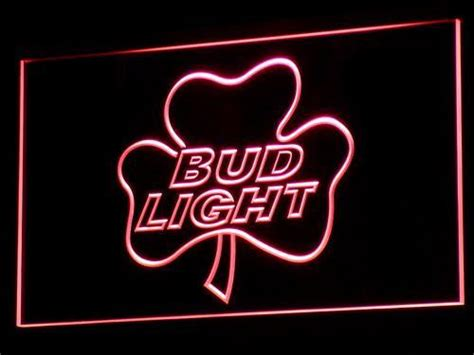 bud light shamrock neon sign bud light shamrock led neon sign safespecial