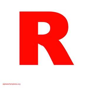Letter r Template Letter r Template R