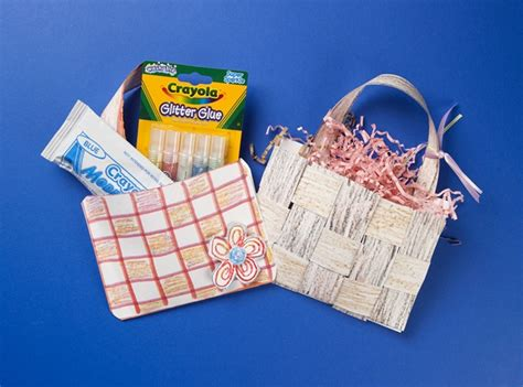 Craft Paper Basket - paper baskets woven wonderful craft crayola