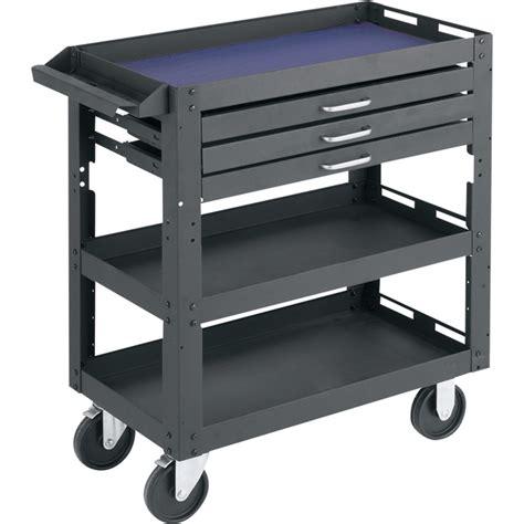 shelf design tool northern industrial tools 3 shelf 3 drawer work cart