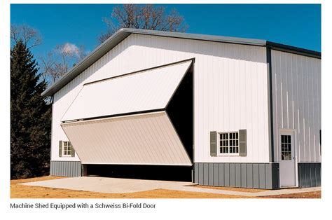 Machine Shed Doors by Bifold Barn Doors Pole Barn Doors Schweiss Folding