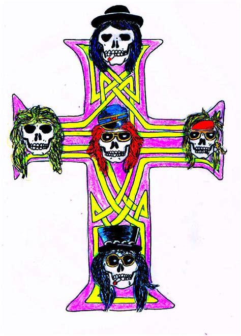 axl s cross tattoo by mrs axl rose on deviantart
