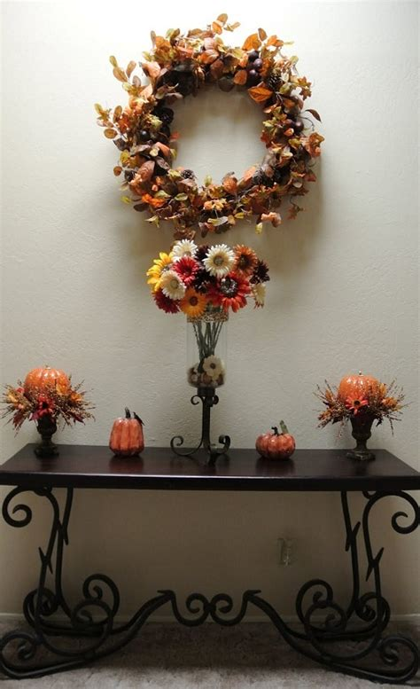 Pier One Fall Decor by Fall Foyer Decor With Pier 1 Quentin Console Table And
